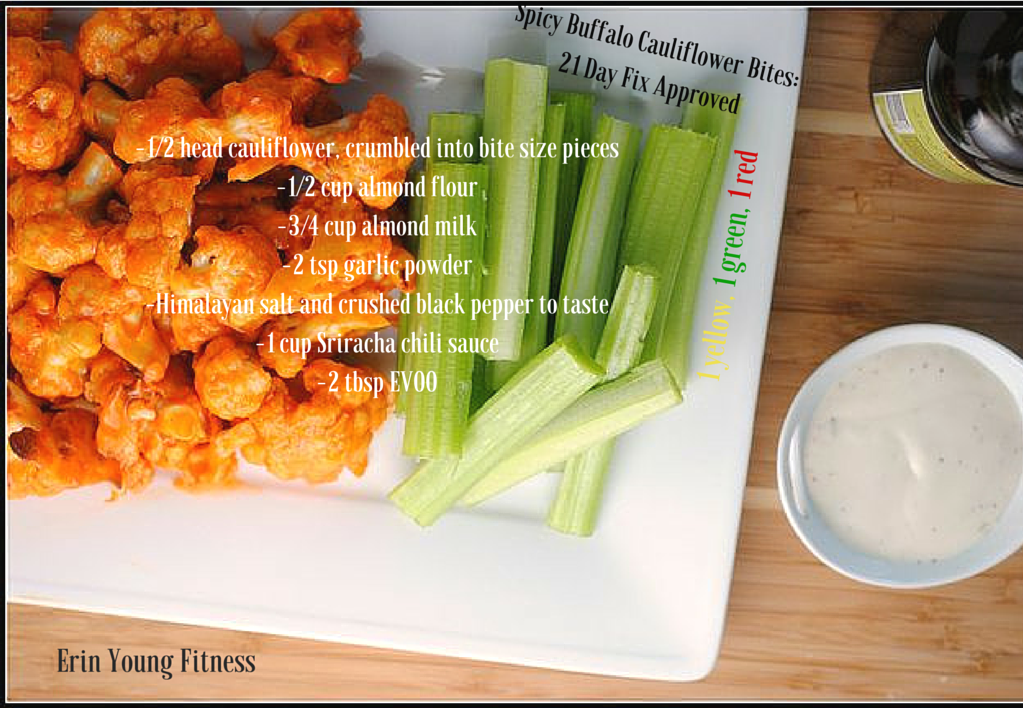 ... buffalo chicken wings?? These Spicy Buffalo Cauliflower Bites are SO