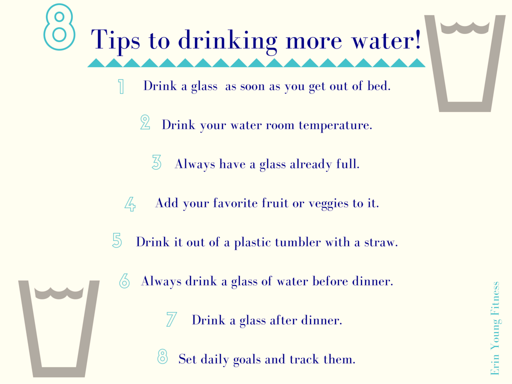 Image result for Tips For Drinking More Water