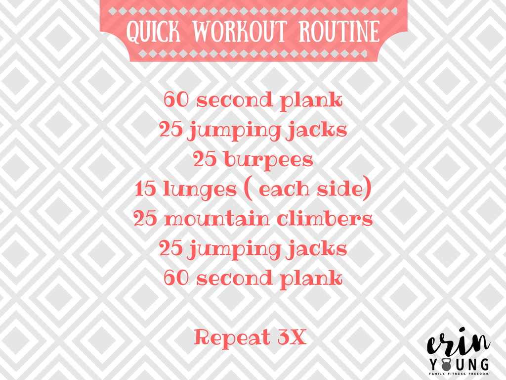 Quick Workout Routine