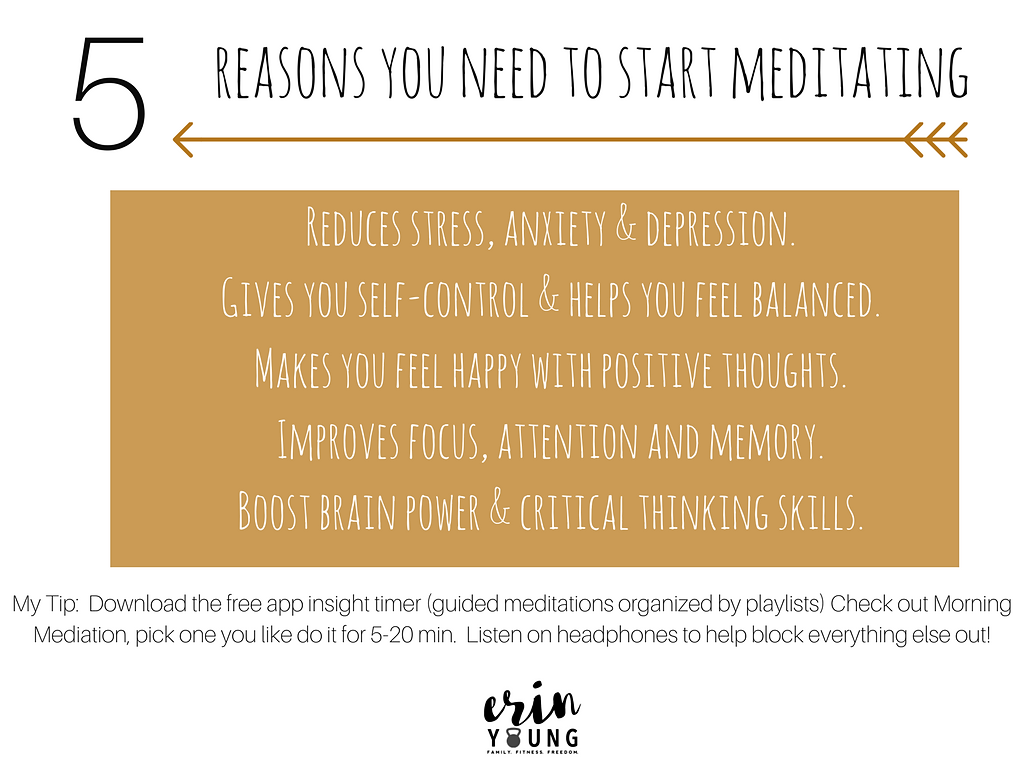 5 Reasons you need to start meditating