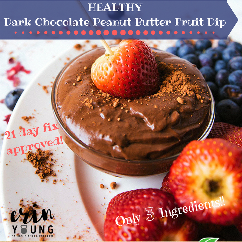 Shakeology Chocolate Peanut Butter Fruit Dip