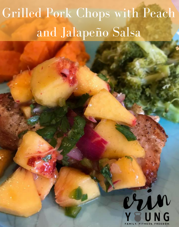 Grilled Pork Chops with Peach & Jalapeno Salsa Recipe